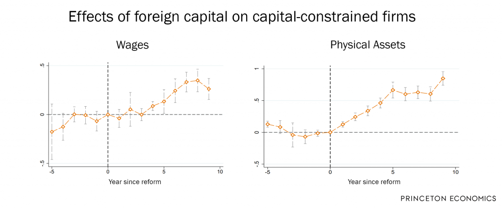 Effects of foreign capital on capital-constrained firms